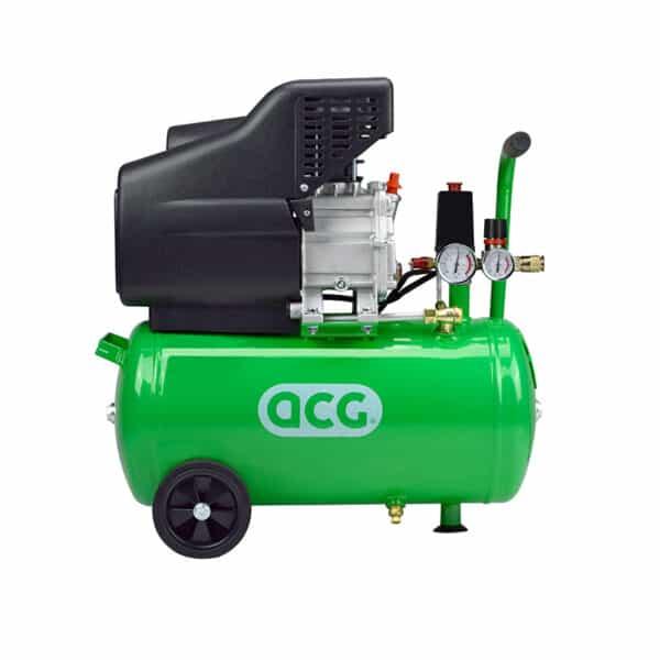 Luchtcompressor 24 liter 10 bar zijaanzicht