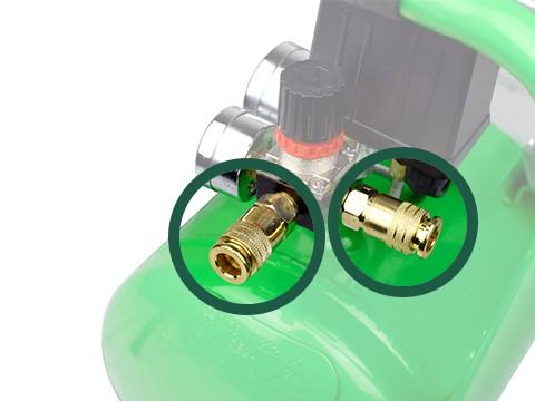 lucht-compressor-ACG24-10-BASIC-snelkoppeling