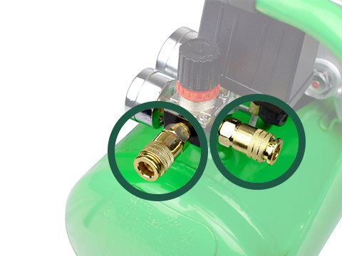 lucht-compressor-ACG24-8-SILENT-snelkoppeling